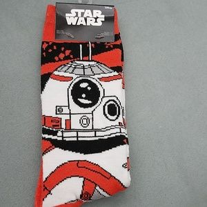 $5 AddOn | Star Wars BB-8 Crew Socks